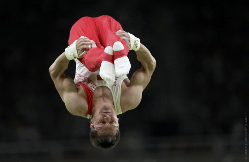2016 Rio Olympics - Artistic Gymnastics - Preliminary - Men's Qualification - Subdivisions - Rio Olympic Arena - Rio de Janeiro, Brazil - 06/08/2016 Andrey Likhovitskiy (BLR) of Belarus is seen during the men's qualifications. REUTERS/Damir Sagolj FOR EDITORIAL USE ONLY. NOT FOR SALE FOR MARKETING OR ADVERTISING CAMPAIGNS. - RTSLEQG